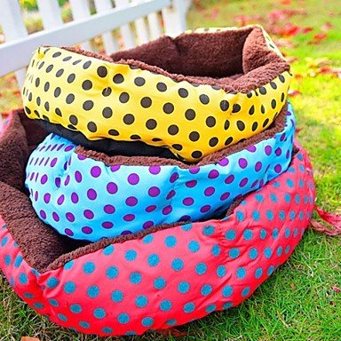 Quick shopping New colorful Soft Fleece Pet Warm Bed House for Dogs Cats Pets Plush Nest Mat Pad Mat  L (5341)cm , Yellow , L