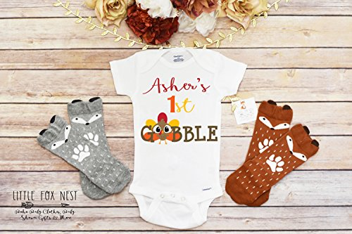 First Thanksgiving Outfit Boy, Thanksgiving Onesie®, Pumpkin