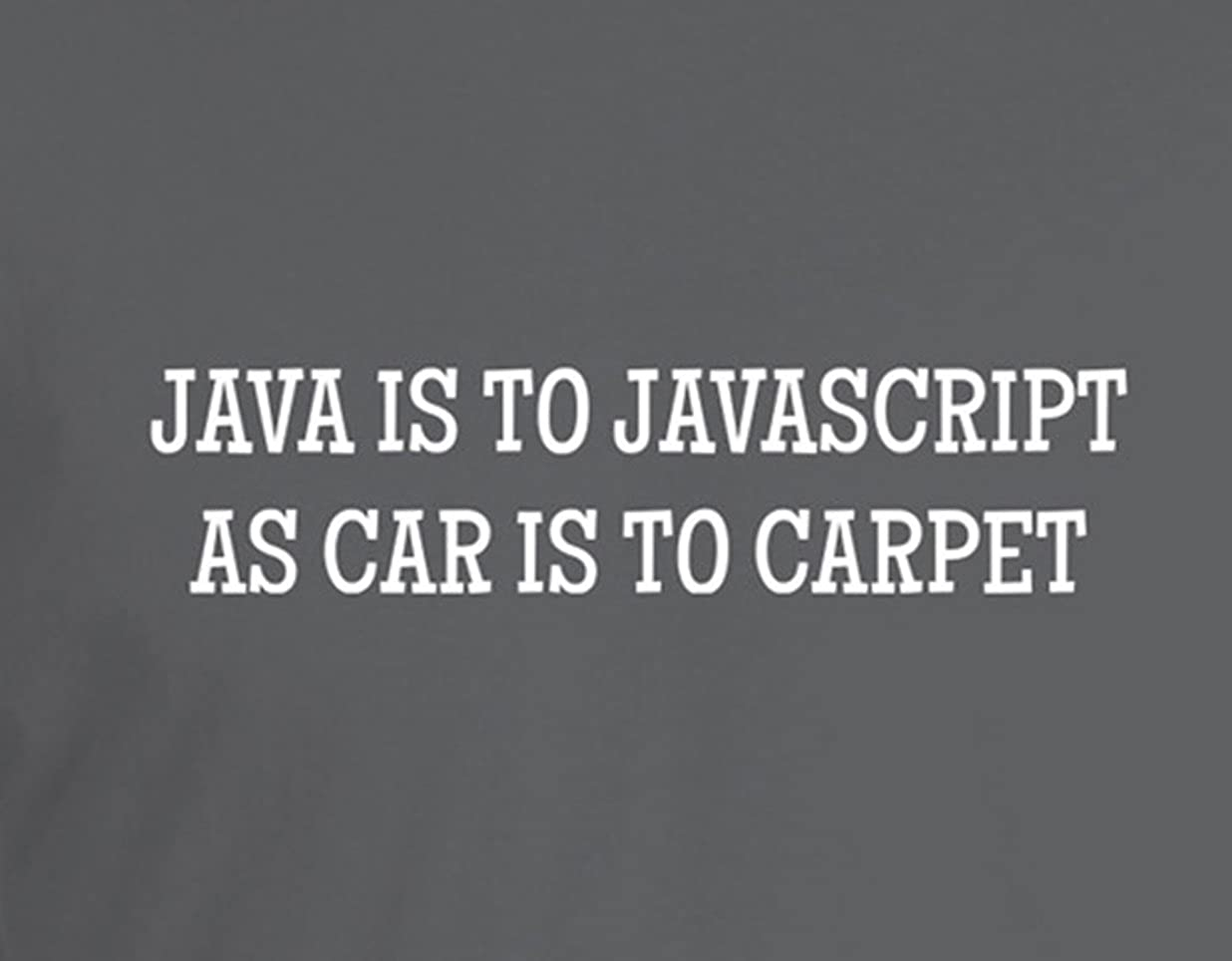 Java is to Javascript As Car Is To Carpet - Geeky Nerdy
