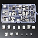 CynKen 14 Styles USB Male Female Mini SMD Vertical Socket Connector For DIY