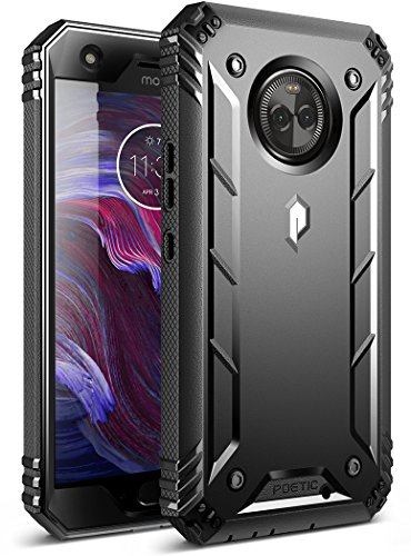 Moto X4 Rugged Case, Poetic Revolution [360 Degree Protection] Full-Body Rugged Heavy Duty Case with Built-in-Screen Protector for Motorola Moto X4 Black