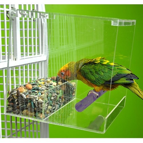 LARGE TWEEKY CLEAN Seed Bird Feeder parrot toy toys african