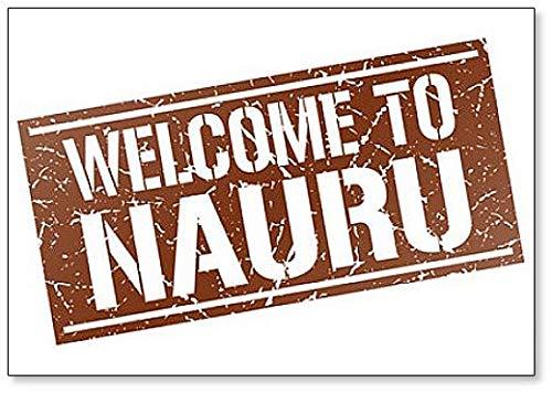 Welcome to Nauru Stamp Illustration Classic Fridge Magnet
