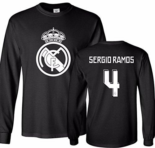 Tcamp Real Madrid Shirt Sergio Ramos #4 Jersey Men's Long Sleeve T-shirt