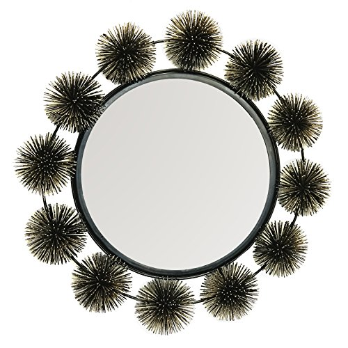 DecorShore Hadal Wall Mirror - Sea Urchin Decorative Sculpture & Mirror - Metal Wire Wall Art & Accents - Artisan Handcrafted Wall Mirrors by