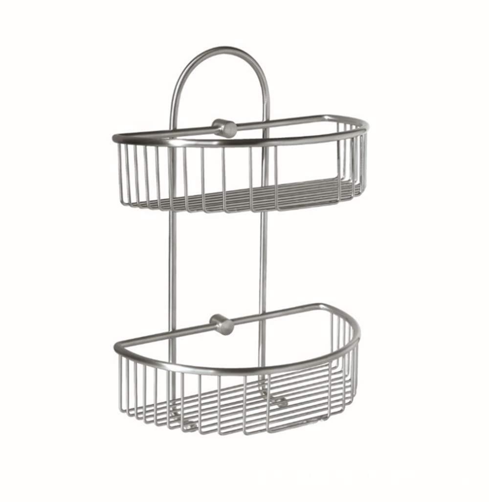 CEFULTY Stainless Steel Storage Rack Bathroom Bathroom Kitchen Storage Rack (Color : Silver)