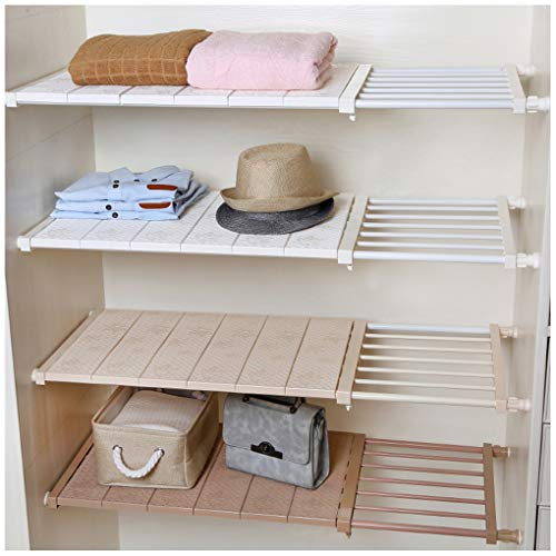 HyFanStr Adjustable Storage Rack Expandable Separator Shelf for Wardrobe 0d41b964ffbc