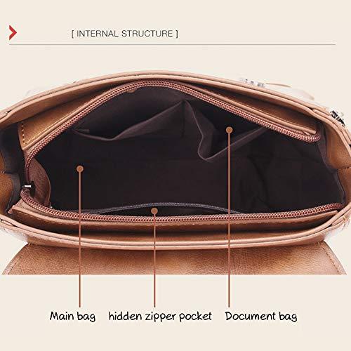 tracolla marrone tracolla Mini spalla Borsa in pelle a verde PU spalla Borse vintage a moda a casual a alla alla a moda spalla con manici borse Borse PO4qzvZc