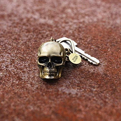 Gold Metal Skull Head Key Chain Novelty Cool Screwgate Carabiner Lock Keychain Iron and Glory Skull Keychain