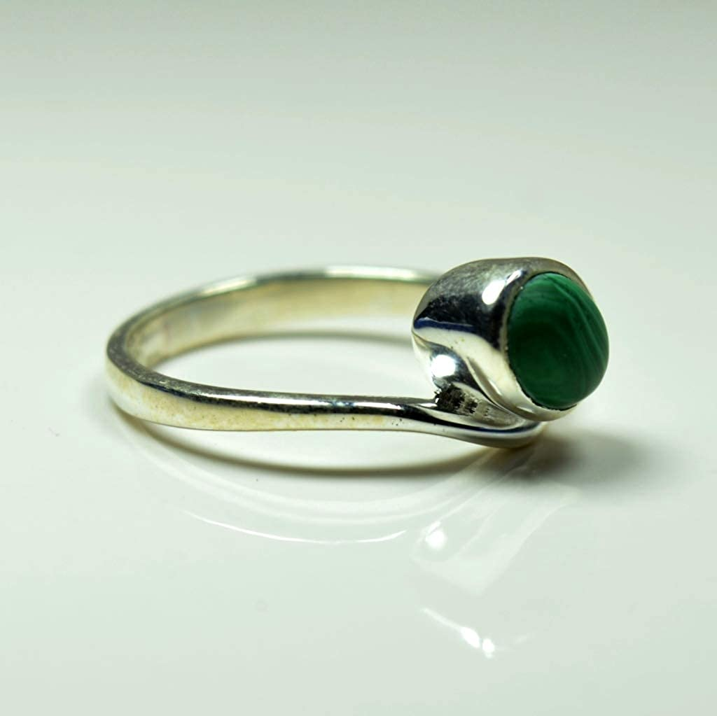 55Carat Real 925 Sterling Silver Malachite Rings for Womens Indian Handmade Fashion Jewelry Size 4 to 13