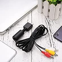 Cewaal 1.8m AV TV Audio 3 RCA Transfer Cable Cord Game Console Convertor For PS2 PS3