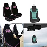 FH Group FB151102 Rhinestone Diamond Accessory Set High Back Bucket Pair Set Seat Covers w. Free Air Freshener- Fit Most Car, Truck, Suv, or Van