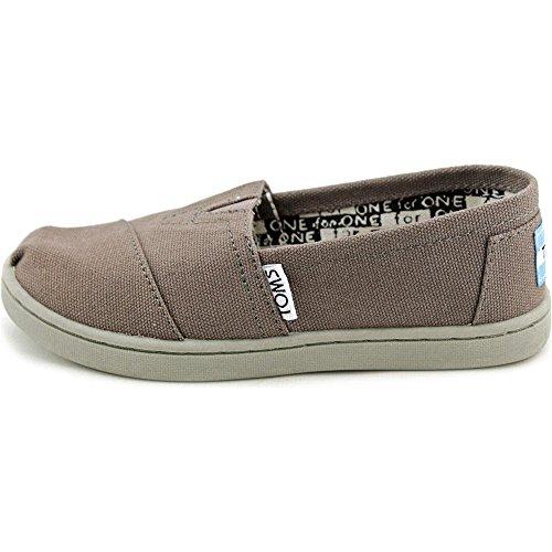 TOMs Unisex Alpargata Slip on Sneakers (Infant/Toddler/Big Kid), Ash, 2 M US Big Kid