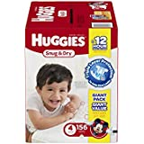 Huggies Snug and Dry Diapers, Size 4, 156 Count (One Month Supply)