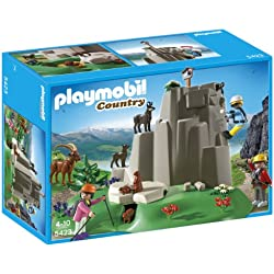 PLAYMOBIL Rock Climbers with Mountain Animals Playset