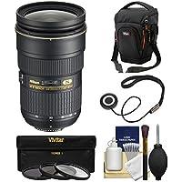 Nikon 24-70mm f/2.8G AF-S ED Zoom-Nikkor Lens with Case + 3 UV/CPL/ND8 Filters Kit for D3200, D3300, D5300, D5500, D7100, D7200, D750, D810 Cameras