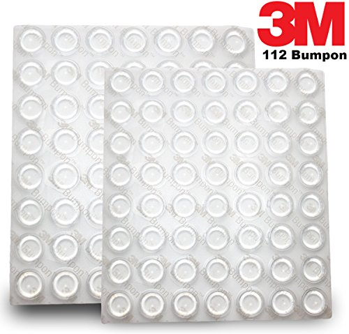 3M Bumpon (112 Pieces ) Bumper/Spacer Pad - Cylindrical Shaped Bumper - 0.5 in Width x 0.14 in Height -