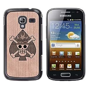 Funda Cubierta Madera de cereza Duro PC Teléfono Estuche / Hard Case for Samsung Galaxy Ace 2 / Phone Case TECELL Store / Poker Skull Metal Rock Picas Poker Skull Metal Rock Spades