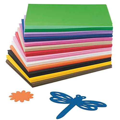 S&S Worldwide AX822 EVA Foam Sheet Assortment (Pack of 78)