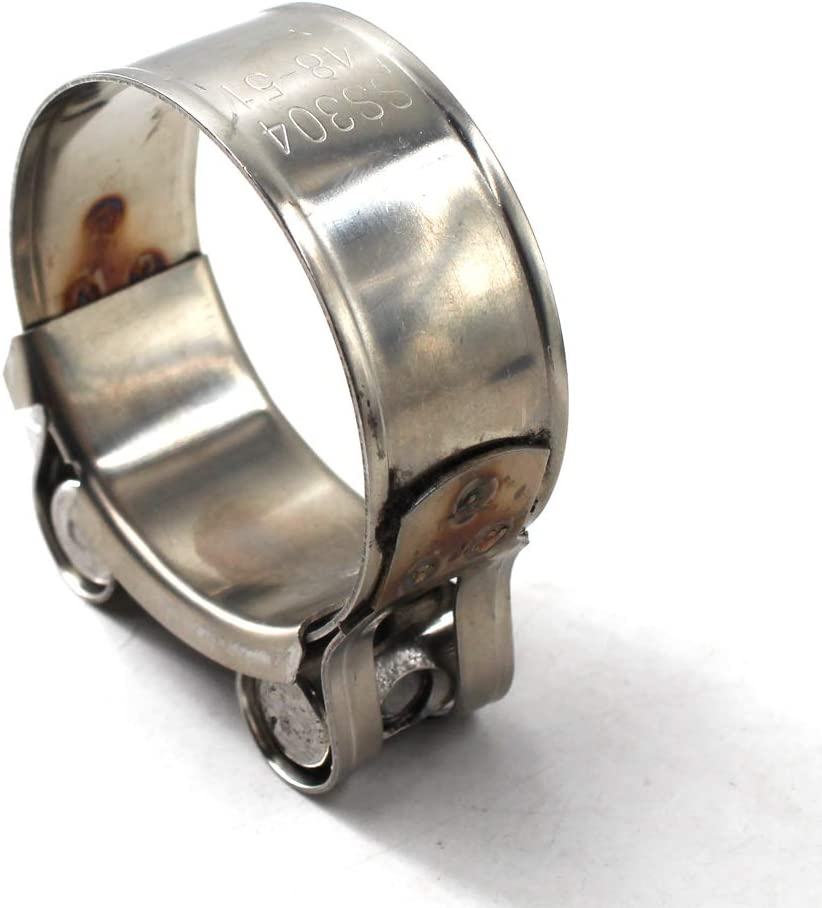 40-43mm Pince de serrage en T en acier inoxydable 304 pour tuyau de serrage 4 pi/èces