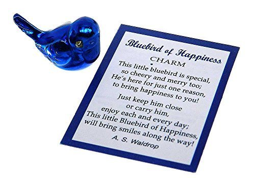 - Ganz Bluebird of Happiness Pocket Charm with Story Card,One Size