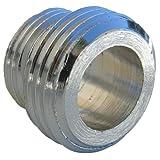LASCO 08–2117añadir una ducha adaptador con 3/8-inch macho rosca de tubo a macho de 1/2-inch rosca de tubo