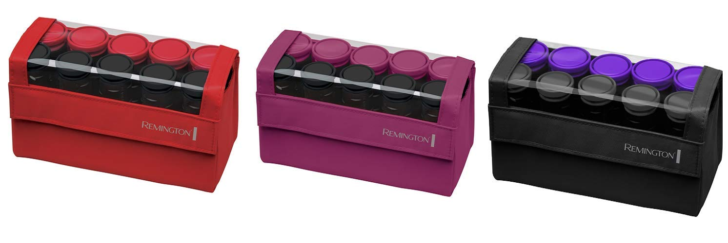 Remington H1016 Compact Ceramic Worldwide Voltage Hair Setter, Hair Rollers, 1-1 ¼ Inch, Purple/Black