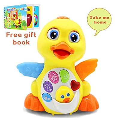 Baby Musical Toys Lovely EQ Flapping Yellow Duck with Music Lights and Talks (Adjustable Volume Sound Learning Toys for Toddlers (New Gifts for Your Babies) by HOMOFY that we recomend individually.
