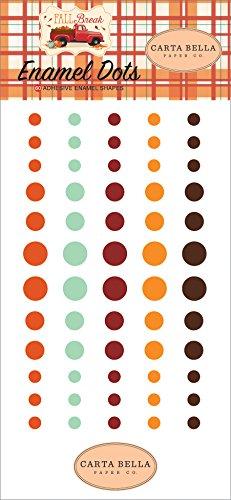 Carta Bella Paper Company CBFA88028 Fall Break Enamel dots, Orange, Yellow, Blue, Brown, Tan, Red - $4.99