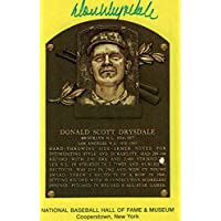 $86 » Don Drysdale Autographed Los Angeles Dodgers Hall Of Fame Postcard 80134 - JSA Certified - MLB Cut Signatures