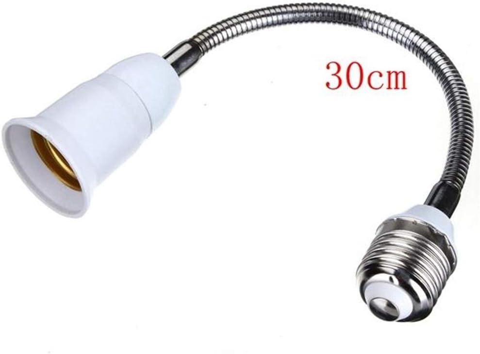 Size : 40cm LED Light E27 LED Bulb Lamp Holder Flexible Extension Adapter Converter Light