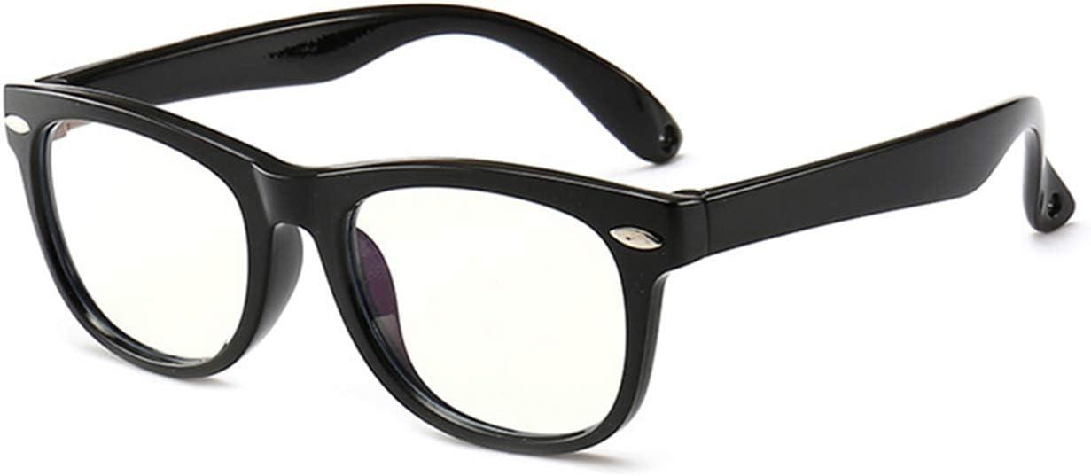 Anti Eyestrain Video Computer Gaming Eyeglasses for Boys /& Girls Black TR90 Square Flexible Eye Glasses MAXJULI Kids Blue Light Blocking Glasses
