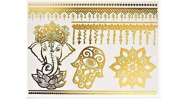 Elefante Mandala Tatuaje temporal tatuajes de flash Tatuajes ...