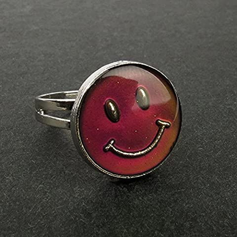 Rimobul Authentic Adjustable Mood Ring,Smiley Face - Pack of 3 (Mood Rings Size)