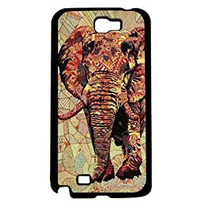 70's Print Elephant Hard Snap on Case (Galaxy Note 2 II)