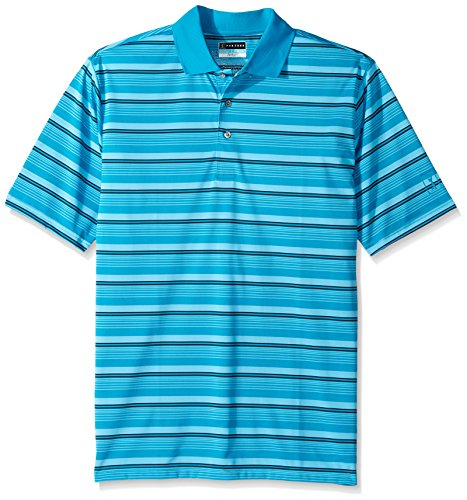 PGA TOUR Men's Big and Tall Short Sleeve Airflux Stripe P...