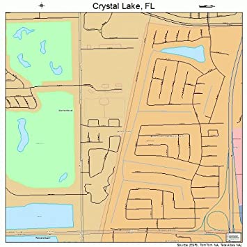 Crystal Lake Florida Map.Amazon Com Large Street Road Map Of Crystal Lake Florida Fl