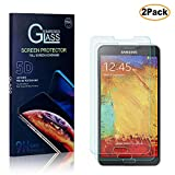 Software : Casake [2 PACK] Galaxy Note 3 Screen Protector, Ultra-thin 9H Hardness HD Clear & Premium Tempered Glass Protective film Easy Install Kit for Galaxy Note 3