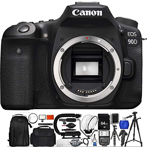 Canon EOS 90D DSLR Camera (Body Only) Deluxe Essential Bundle