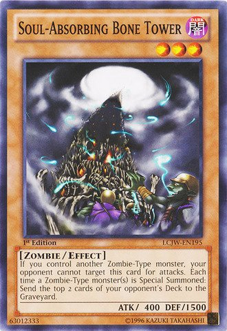 Yu-Gi-Oh! - Soul-Absorbing Bone Tower (LCJW-EN195) - Legendary Collection 4: Joey's World - 1st Edition - (Bone A Mints Bones)