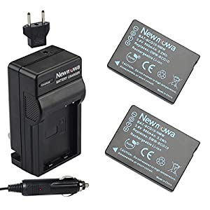 Newmowa DMW-BCG10 Battery (2-Pack) and Charger kit for Panasonic DMW-BCG10, DMW-BCG10E, DMW-BCG10PP and Panasonic Lumix DMC-3D1, DMC-TZ6, DMC-TZ7, DMC-TZ8, DMC-TZ10, DMC-TZ18, DMC-TZ19, DMC-TZ20, DMC-TZ25, DMC-TZ30, DMC-TZ35, DMC-ZR1, DMC-ZR3, DMC-ZS1, DM