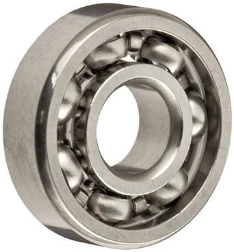 Dynaroll Precision Miniature Ball Bearing, ABEC-5, Open, Stainless Steel