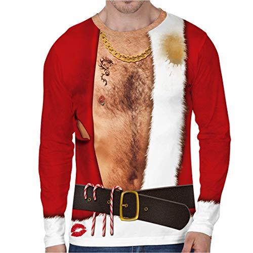 URVIP Unisex Christmas Pullover Sweatshirts 3D Digital Printed Graphic Shirts BFL-005 L