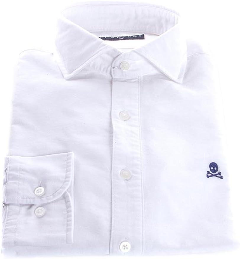 Scalpers NOS POLERA Cont Shirt Camisa, White, 40 para Hombre: Amazon.es: Ropa y accesorios