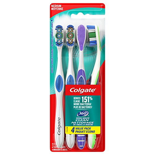 Colgate 360 Adult Toothbrush, Medium (4 Count) ()