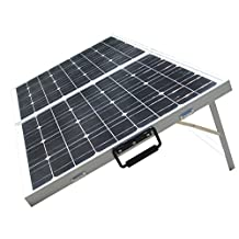 ECO-WORTHY 200 Watt Portable Folding Solar Panel Kits -2x100W Folding PV Solar Panel 12V RV Boat Off Grid W 15A Charge Controller