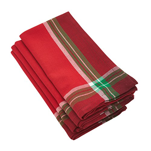 Aberdeen Tartan - SARO LIFESTYLE Aberdeen Collection Classic Tartan Plaid Pattern Cotton Napkin, 20