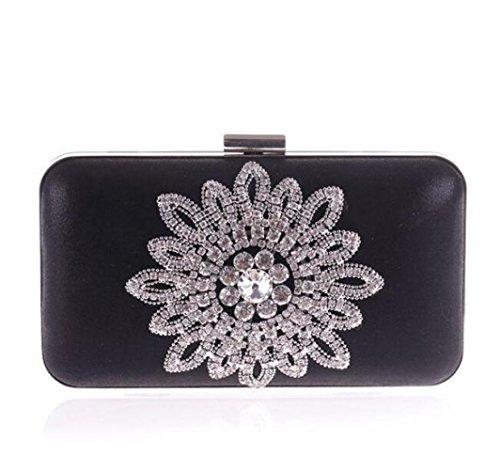 Diamant De Coréen Sac Sac Femme Black WLFHM En Sac Mode Soirée Pour Sac Chaîne De Sac wF0qUR