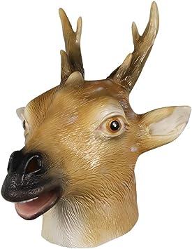 molezu Máscara de Ciervo Máscara de Disfraz de Animal Máscara de ...