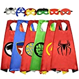 Easony Birthday Presents Gifts for 3-10 Year Old Boys, Cartoon Super Hero Satin Capes Dress up for Kids Party Favor Toys for 3-10 Year Old Boys ESUSCP06